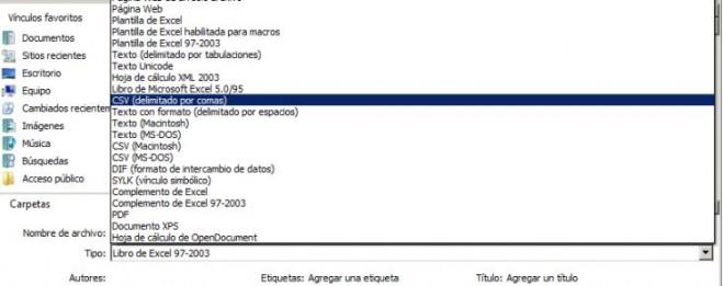 Importar Contactos desde Excel
